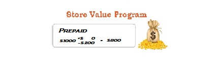 Store Value Program-prepaid pprogram-layout